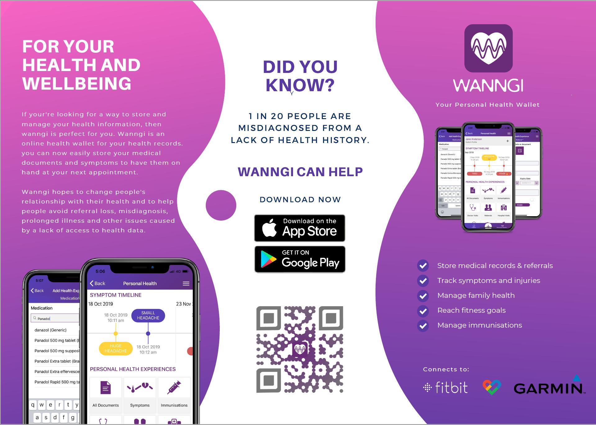 Wanngi Brochure Health and wellbeing