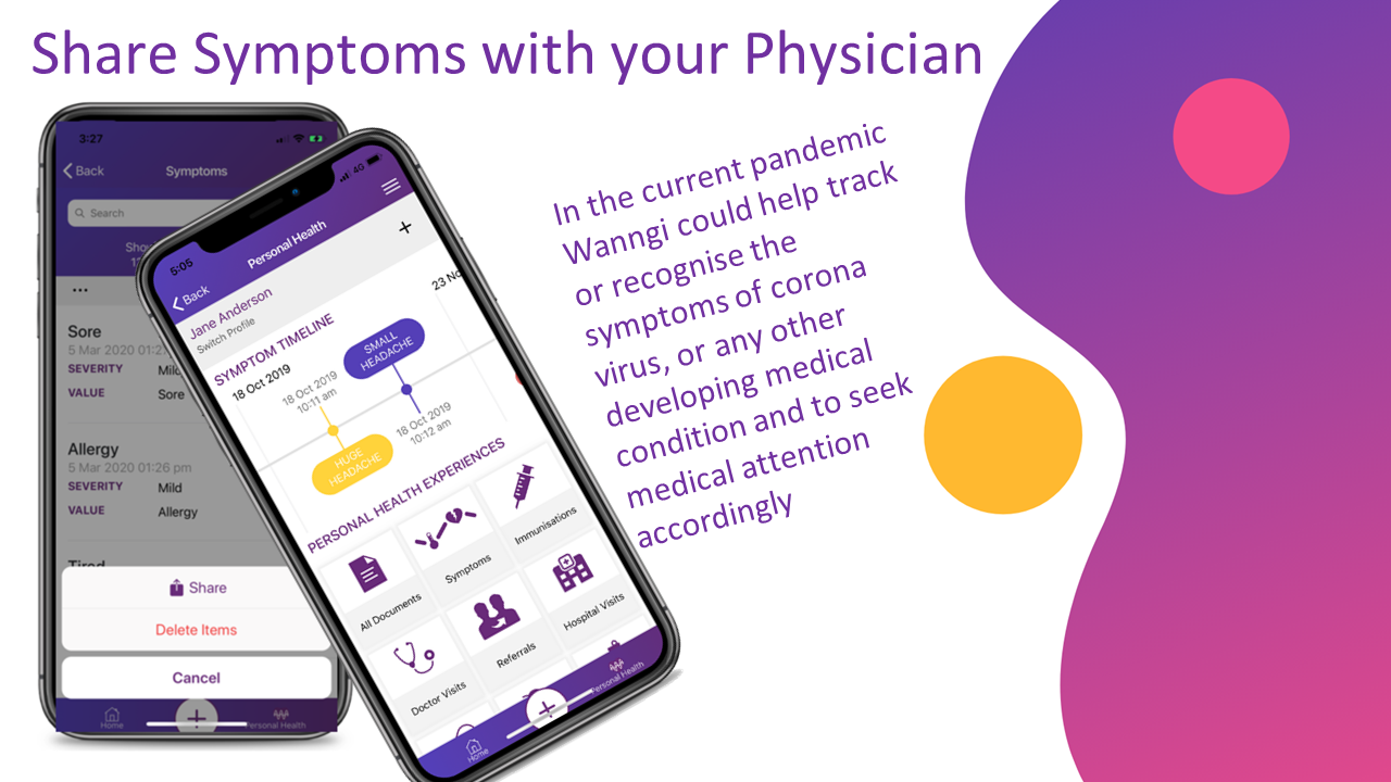 Share Symptoms with your Physician