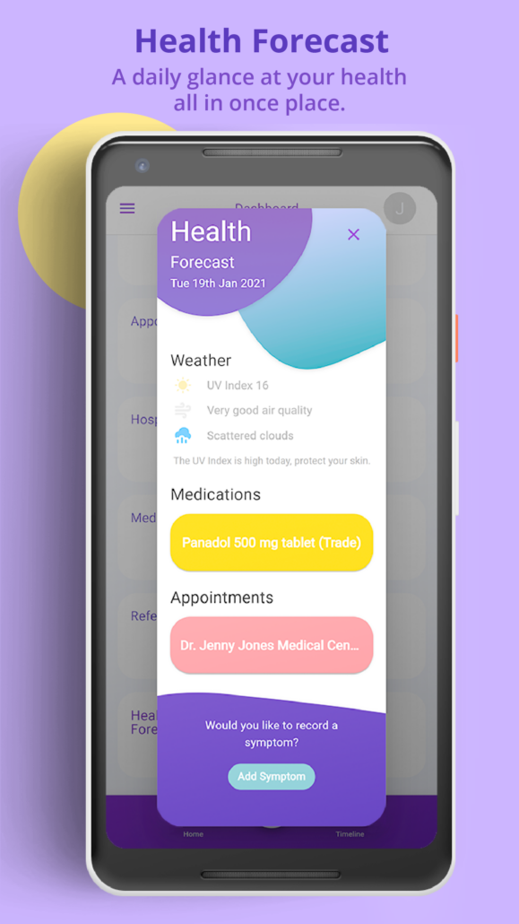 Wanngi Health Forecast Screen